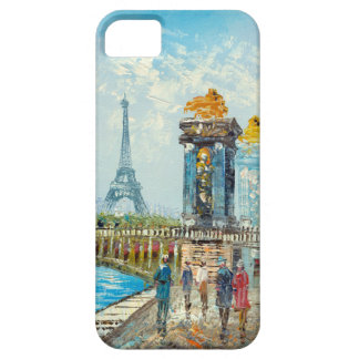 Painting Of Paris Eiffel Tower Scene iPhone 5 Cases
