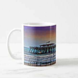 Painting of Pier at Myrtle Beach - Coffee Mug