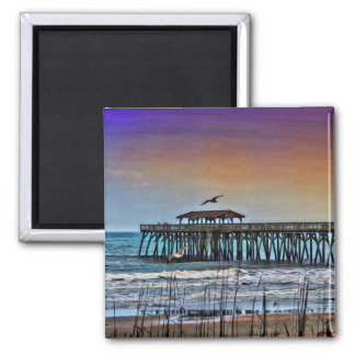 Painting of Pier at Myrtle Beach - Magnet