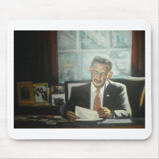 Painting of President Obama by Hart Mouse Pad