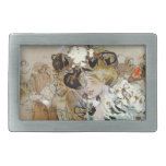 """Painting of Ramon Houses """"Celebrations in Toulon """" Rectangular Belt Buckle"""