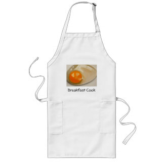 Painting of Raw Egg: Realism:  Breakfast Cook Long Apron