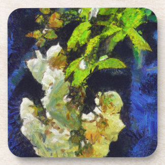 Painting of roses drink coasters