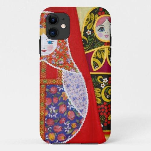 Painting of Russian Matryoshka doll Phone Case