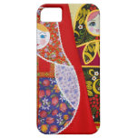 Painting of Russian Matryoshka doll iPhone 5 Cases
