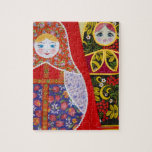 "Painting of Russian Matryoshka doll Jigsaw Puzzle<br><div class=""desc"">AssetID: 112181801 / Keren Su / Painting of Russian Matryoshka doll</div>"