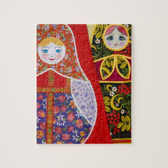 Painting of Russian Matryoshka doll Jigsaw Puzzle