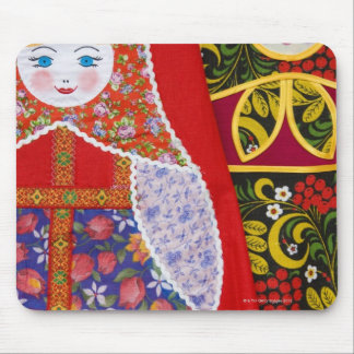 Painting of Russian Matryoshka doll Mouse Pad
