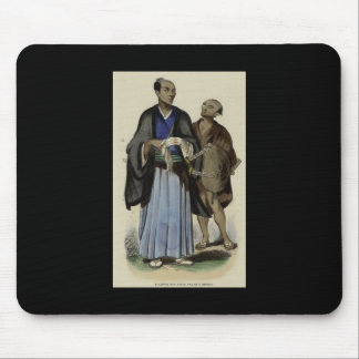 Painting of Samurai and servant c. 1845-1847 Mouse Pad