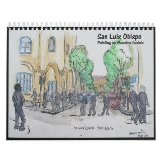 Painting of San Luis Obispo Calendar
