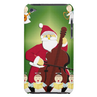 Painting of Santa Claus playing cello with Barely There iPod Cover