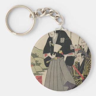 """Painting of Sasaki """"Ganryu"""" Kojiro circa 1810 Keychain"""