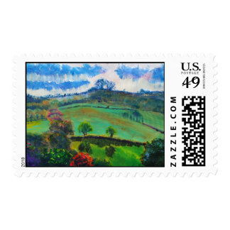 Painting of the Devon countryside Postage