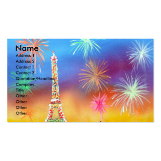 Painting of the Eiffel Tower in Paris Business Card Template