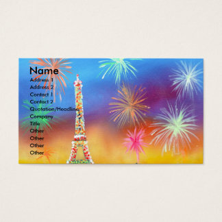 Painting of the Eiffel Tower in Paris Business Card
