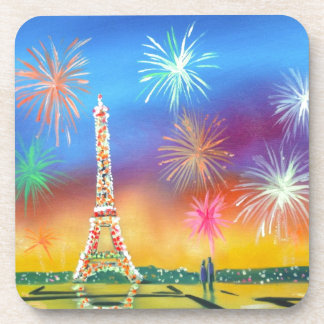 Painting of the Eiffel Tower in Paris Coaster