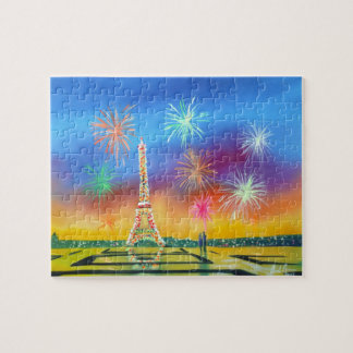 Painting of the Eiffel Tower in Paris Puzzle