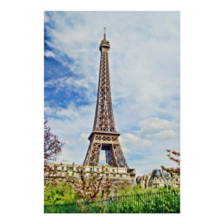 Painting of the Eiffel Tower Poster