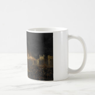 Painting of the Great Fire of London, 17th century Classic White Coffee Mug