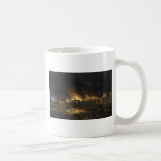 Painting of the Great Fire of London, 17th century Coffee Mug