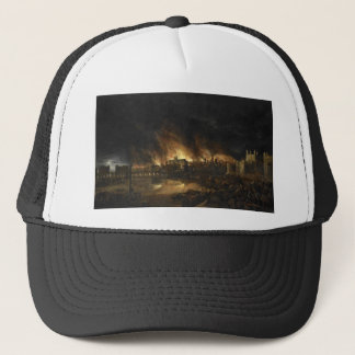 Painting of the Great Fire of London, 17th century Trucker Hat