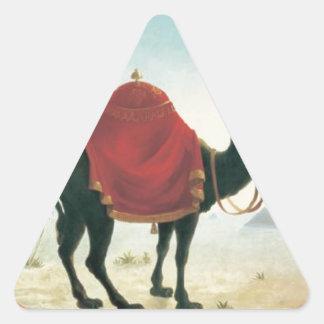 Painting of the logo of the restaurant Zum Schwarz Triangle Sticker