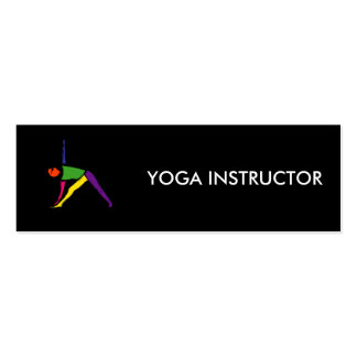 Painting of triangle yoga pose. mini business card