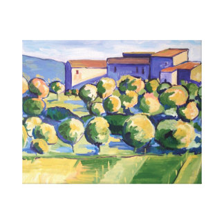 Painting of Tuscany Canvas Print
