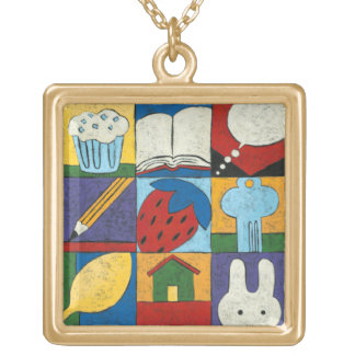 Painting of Various Objects by Chariklia Zarris Pendant