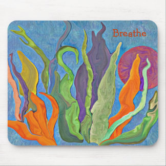 Painting of Wild Grasses in the Sun Mouse Pad