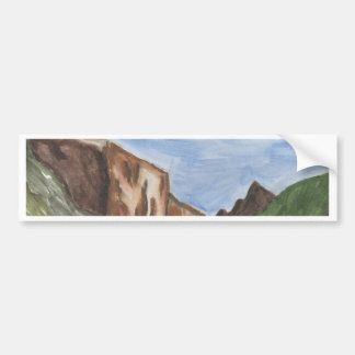 Painting of Yosemite Valley Car Bumper Sticker