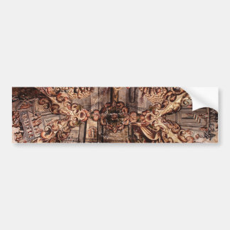Painting on the Ceiling of Atotonilco Church Car Bumper Sticker