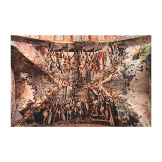 Painting on the Ceiling of Atotonilco Church Canvas Print