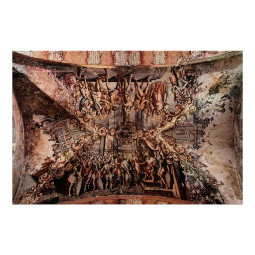 Painting on the Ceiling of Atotonilco Church Poster