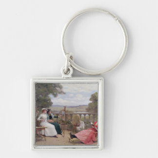 Painting on the Terrace Keychain
