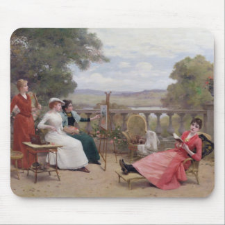 Painting on the Terrace Mouse Pad