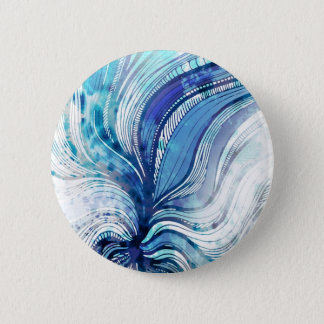 Painting on Watercolor Splatter Texture Pinback Button