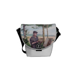 Painting outdoors Self-portrait Courier Bags