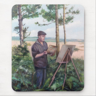 Painting outdoors (Self-portrait) Mouse Pad