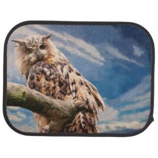 Painting Owl Car Mat