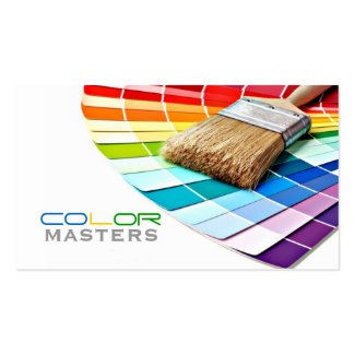 Painting, Painter, Construction, Design Business Cards