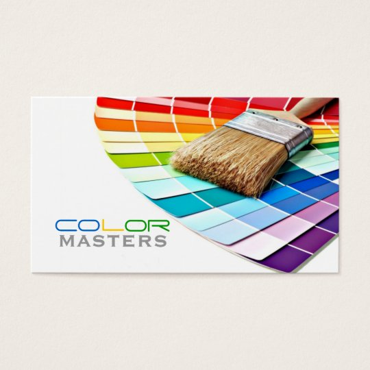 Painting, Painter, Construction, Design Business Card
