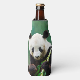Painting Panda Bear Long Hui Bottle Cooler