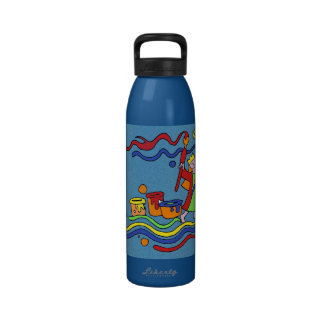 Painting Party Artist with Colorful Paints Reusable Water Bottles