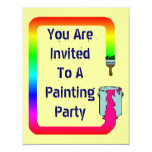 PAINTING PARTY SHOWER OR HOUSEWARMING INVITATION