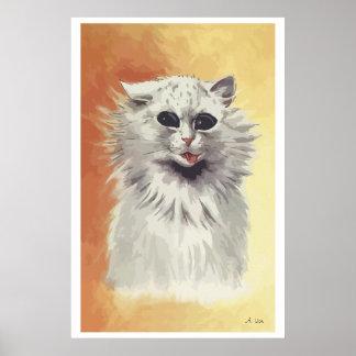Painting Persian cat n° 1 Poster