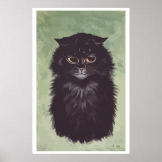 Painting Persian cat n° 2 Poster