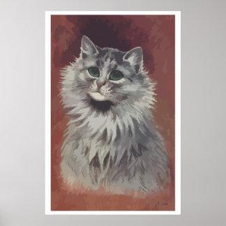 Painting Persian cat n° 5 Poster