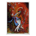 Painting Persian Girl Pouring wine from jug Poster
