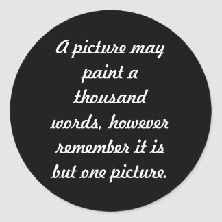 Painting pictures classic round sticker